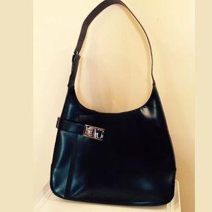 7fdb31600e Ferragamo Bags - Salvatore Ferragamo Black leather Gancio Hobo Bag